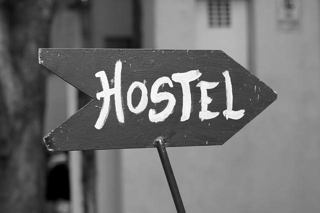 směr k hostelu