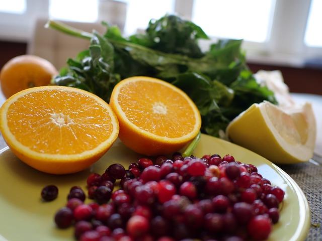pomeranče a brusinky