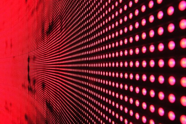 červená LED dioda
