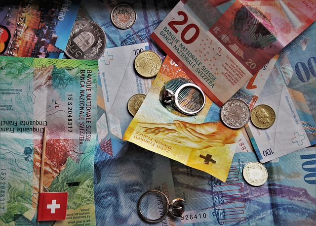 švýcarské peníze